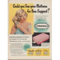 "1952 Springwall Ad ""Could you Sue your Mattress"""