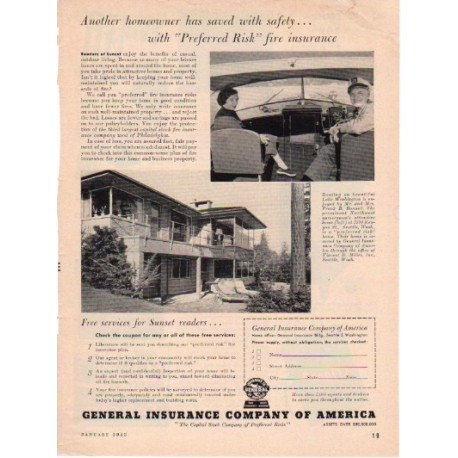 1953 General Insurance Company of America Ad