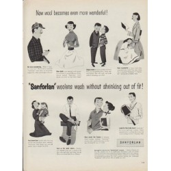 "1952 Sanforlan Ad ""Now wool becomes even more wonderful!"""