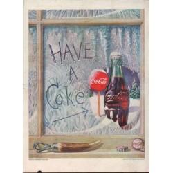 """1952 Coca-Cola Ad """"HAVE A Coke"""""""