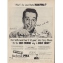 """1955 Ipana Ad """"What? ... You haven't tasted new Ipana?"""""""