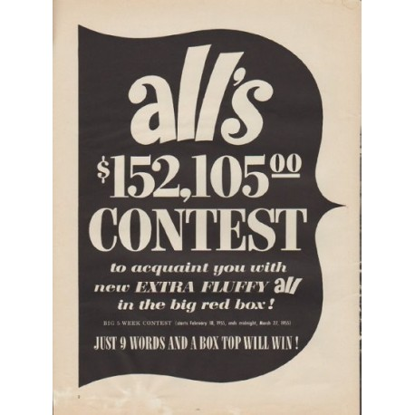 "1955 ALL Detergent Ad ""Contest"""