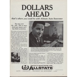 """1960 Allstate Insurance Ad """"Herbert Simon"""""""