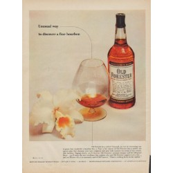 "1955 Old Forester Whisky Ad ""Unusual way"""