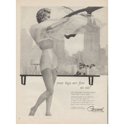 "1955 Gossard Ad ""your legs are free as air!"""