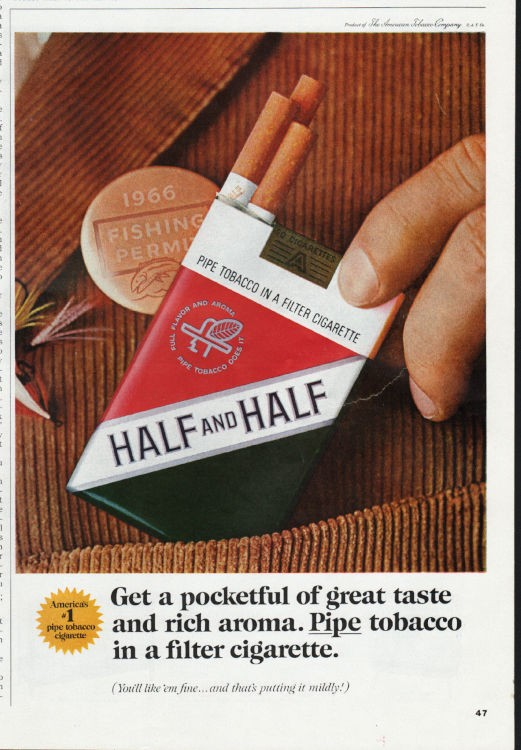 Half and Half Tobacco Giveaway Advertising