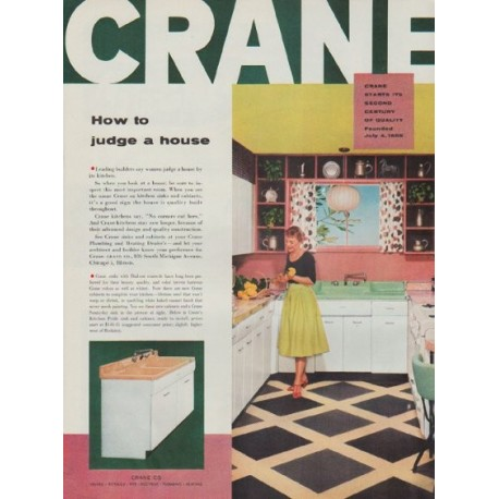 "1955 Crane Ad ""How to judge a house"""