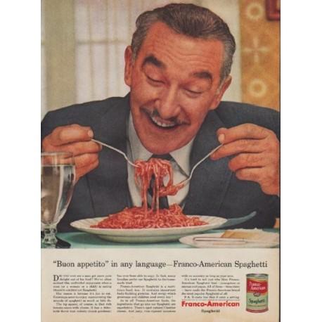 """1955 Franco-American Ad """"Buon appetito"""""""