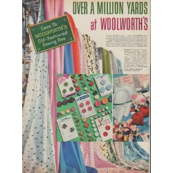 "1955 Woolworth's Ad ""Over a Million Yards"""