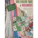 """1955 Woolworth's Ad """"Over a Million Yards"""""""