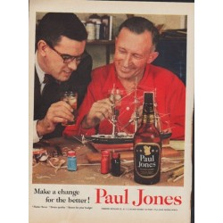 "1955 Paul Jones Whiskey Ad ""Make a change"""