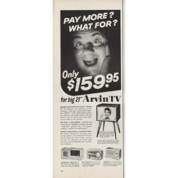 "1955 Arvin TV Ad ""Pay More?"""