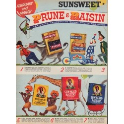 "1955 Sunsweet and Sun-Maid Ad ""Prune & Raisin Festival"""