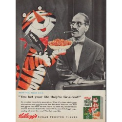 "1955 Kellogg's Ad ""Tony the Tiger says"""