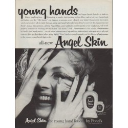 "1961 Pond's Angel Skin Ad ""young hands"""