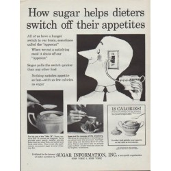 "1961 Sugar Information Inc. Ad ""sugar helps dieters"""