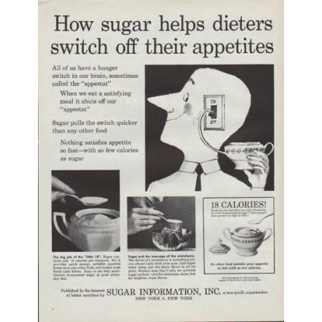 "1961 Sugar Information Inc. Ad ""sugar helps dieters"""