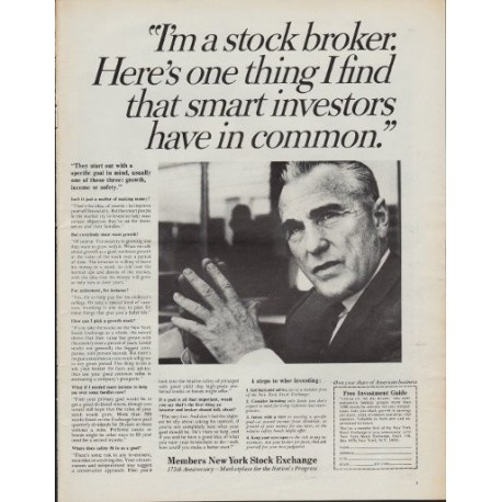 "1967 New York Stock Exchange Ad ""Investors"""