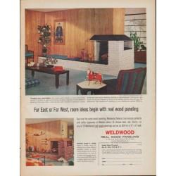 "1961 Weldwood Ad ""Far East or Far West"""