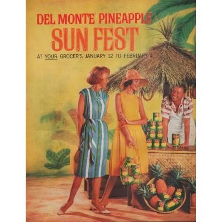 """1961 Del Monte Ad """"Sun Fest"""""""