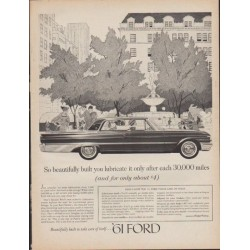 "1961 Ford Galaxie Ad ""So beautifully built"""