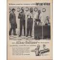 """1961 Alka-Seltzer Ad """"When you're weary with Day-End Fatigue"""""""
