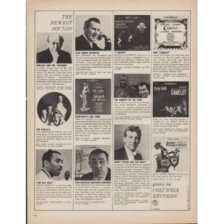 """1961 Columbia Records Ad """"The Newest Sounds"""""""