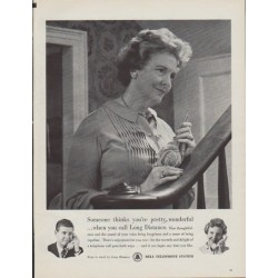 "1961 Bell Telephone Ad ""Someone thinks you're pretty wonderful"""