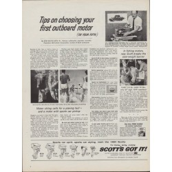 "1960 Scott's Outboard Motor Ad ""Tips"""