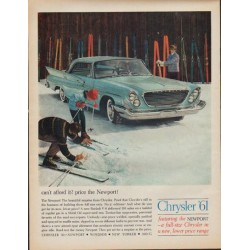 "1961 Chrysler Ad ""can't afford it?"""