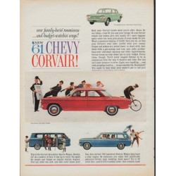 "1961 Chevrolet Ad ""1961 Chevy Corvair!"""