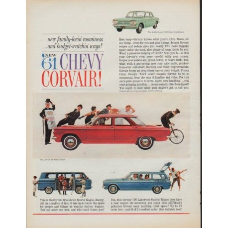 """1961 Chevrolet Ad """"1961 Chevy Corvair!"""""""