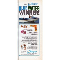 "1967 Glasspar Ad ""Blue Water Winner!"""
