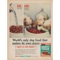 """1961 Gravy Train Ad """"makes its own gravy"""""""