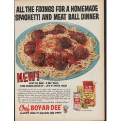 "1961 Chef Boy-Ar-Dee Ad ""All the Fixings"""