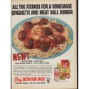 """1961 Chef Boy-Ar-Dee Ad """"All the Fixings"""""""