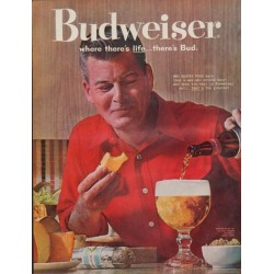 "1961 Budweiser Ad ""where there's life ... there's Bud"""