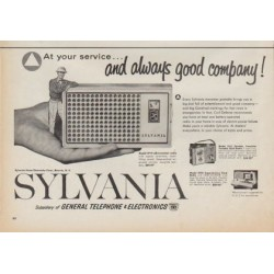 "1961 Sylvania Radio Ad ""At your service"""