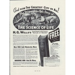 "1937 Literary Guild Of America Ad ""The Science Of Life"""