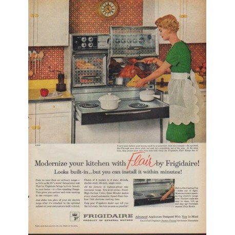 "1961 Frigidaire Ad ""Modernize your kitchen"""