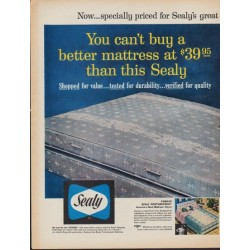 "1961 Sealy Ad ""great 80th Anniversary Sale"""
