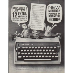 "1961 Remington Ad ""Stop, Look and List 'Em!"""