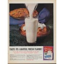 "1961 Carnation Milk Ad ""Taste its lighter, fresh flavor !"""