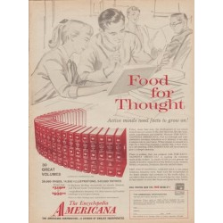 "1960 Encyclopedia Americana Ad ""Food For Thought"""