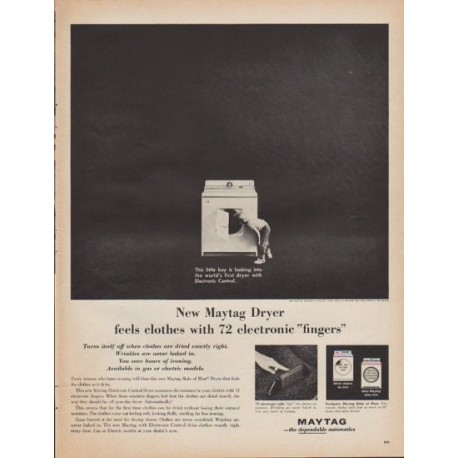 """1961 Maytag Ad """"electronic fingers"""""""