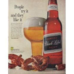 "1961 Carling Black Label Beer Ad ""they like it"""