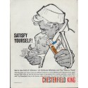 "1961 Chesterfield Cigarettes Ad ""Satisfy Yourself!"""