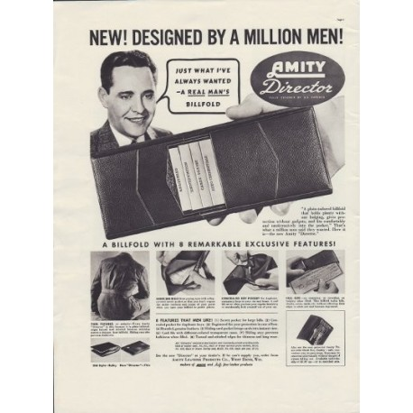 "1937 Amity Leather Products Ad ""Director"""