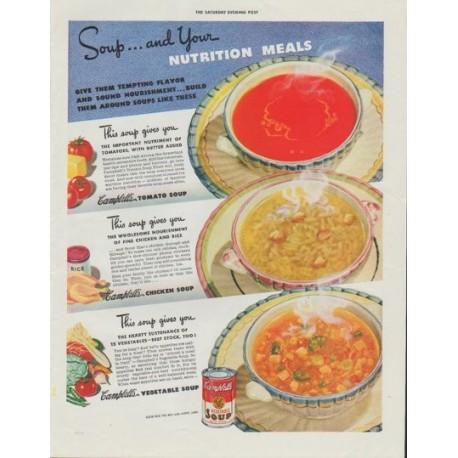 1942 Campbell S Soup Vintage Ad Quot Nutrition Meals Quot