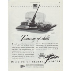 "1942 General Motors Ad ""Treasury of skills"""